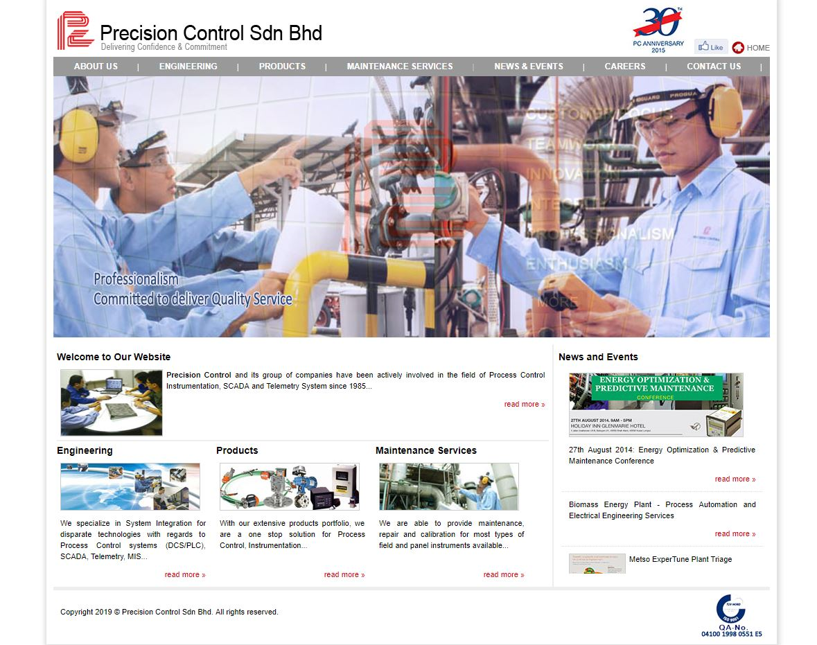 Relaunching of Precision Control Website